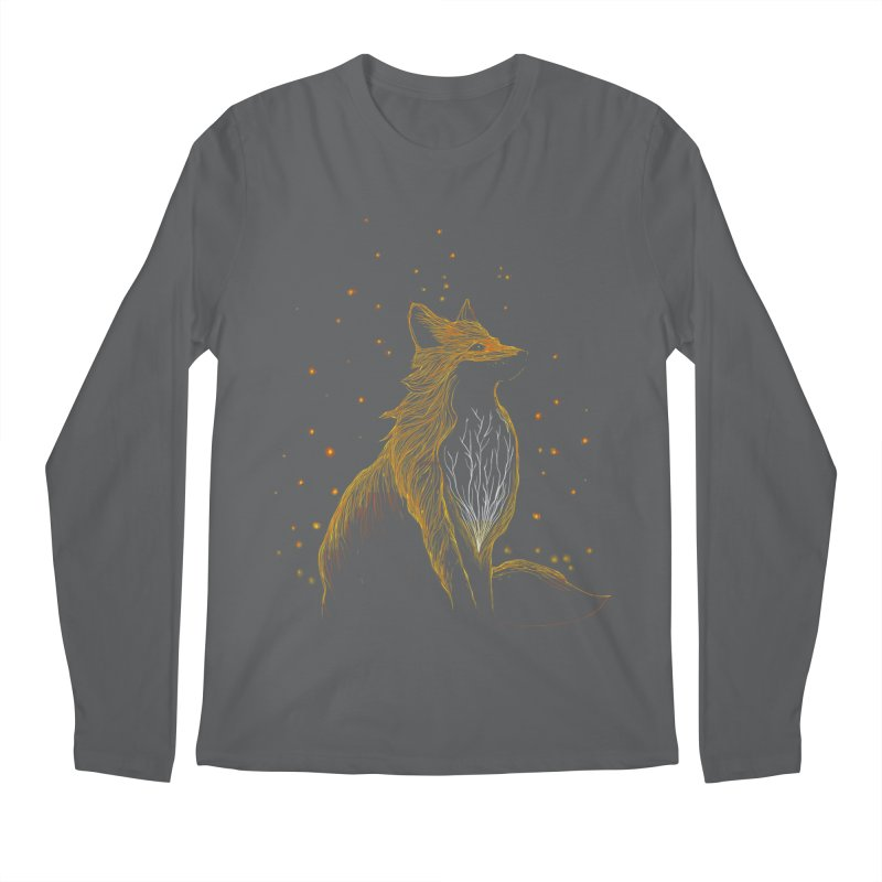 winter fox Men's Longsleeve T-Shirt by kharmazero's Artist Shop