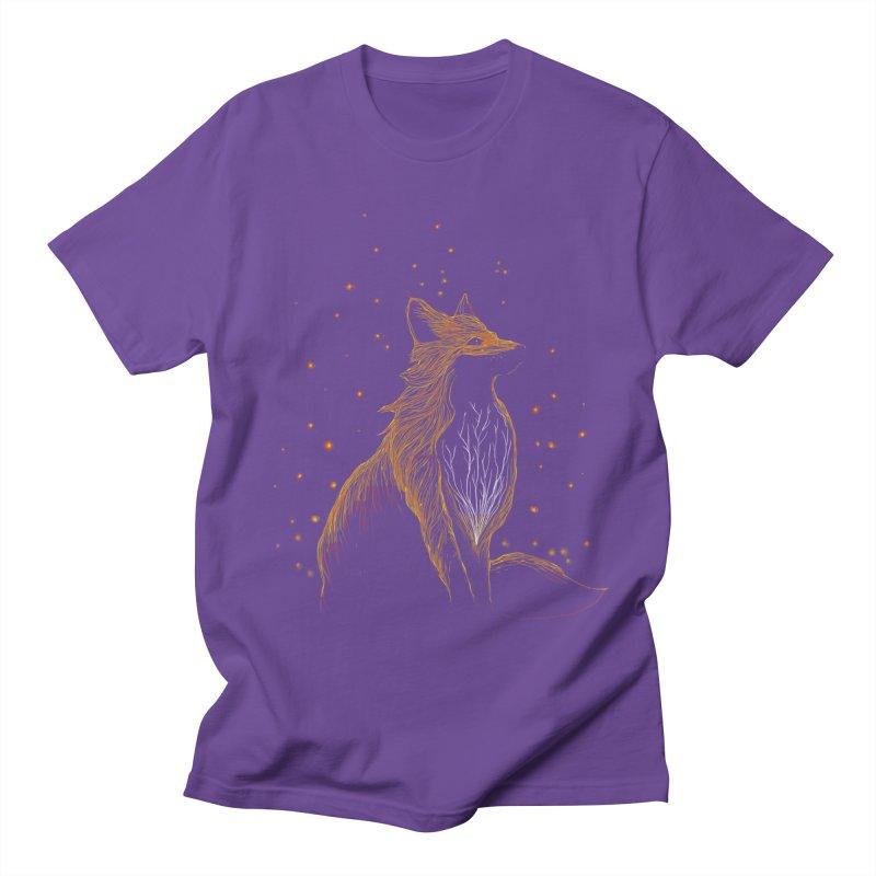winter fox Men's T-shirt by kharmazero's Artist Shop