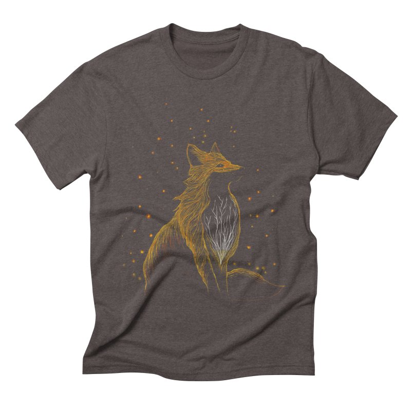 winter fox Men's Triblend T-Shirt by kharmazero's Artist Shop