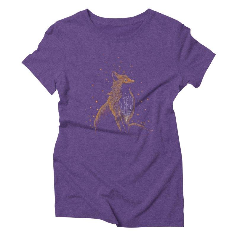 winter fox Women's Triblend T-shirt by kharmazero's Artist Shop