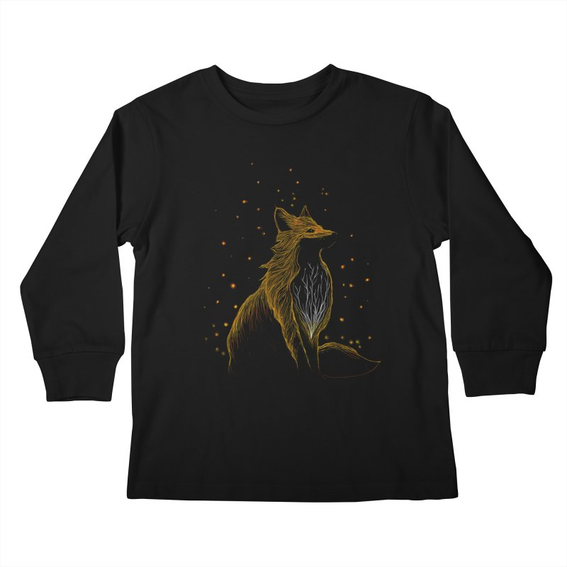 winter fox Kids Longsleeve T-Shirt by kharmazero's Artist Shop