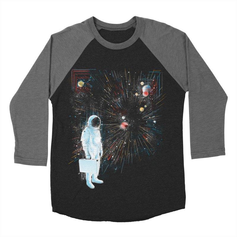 open workspace Men's Baseball Triblend T-Shirt by kharmazero's Artist Shop