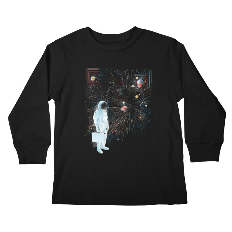 open workspace Kids Longsleeve T-Shirt by kharmazero's Artist Shop