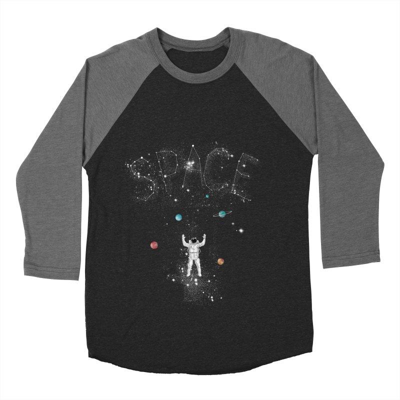space!!!!! Men's Baseball Triblend T-Shirt by kharmazero's Artist Shop