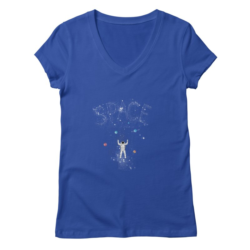 space!!!!! Women's V-Neck by kharmazero's Artist Shop