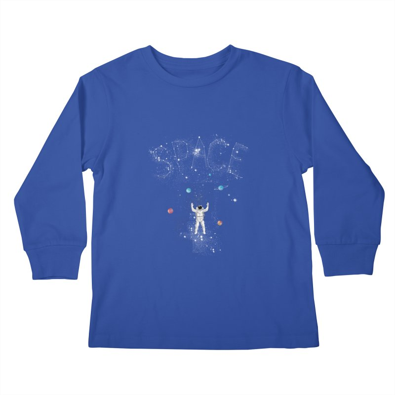 space!!!!! Kids Longsleeve T-Shirt by kharmazero's Artist Shop