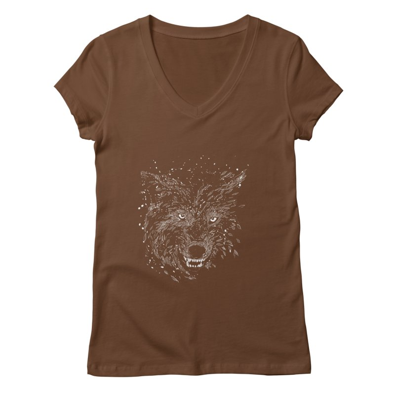 winter is coming Women's V-Neck by kharmazero's Artist Shop