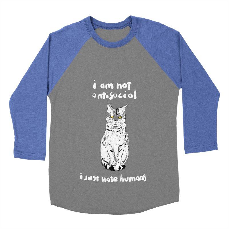 not social Men's Baseball Triblend T-Shirt by kharmazero's Artist Shop