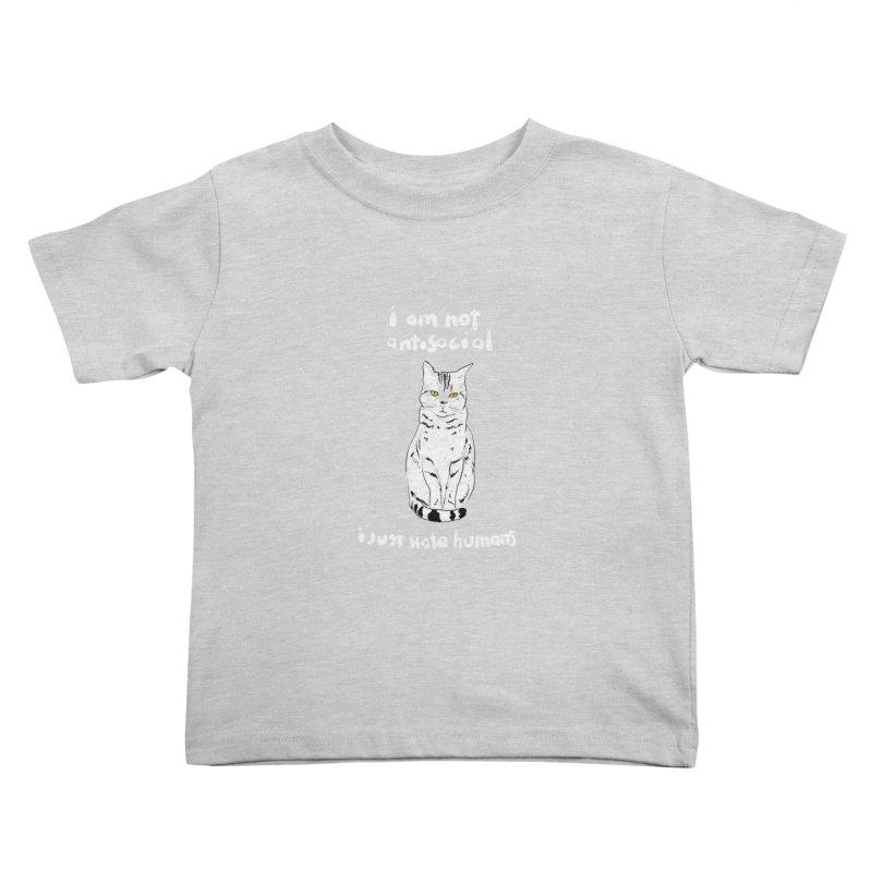not social Kids Toddler T-Shirt by kharmazero's Artist Shop