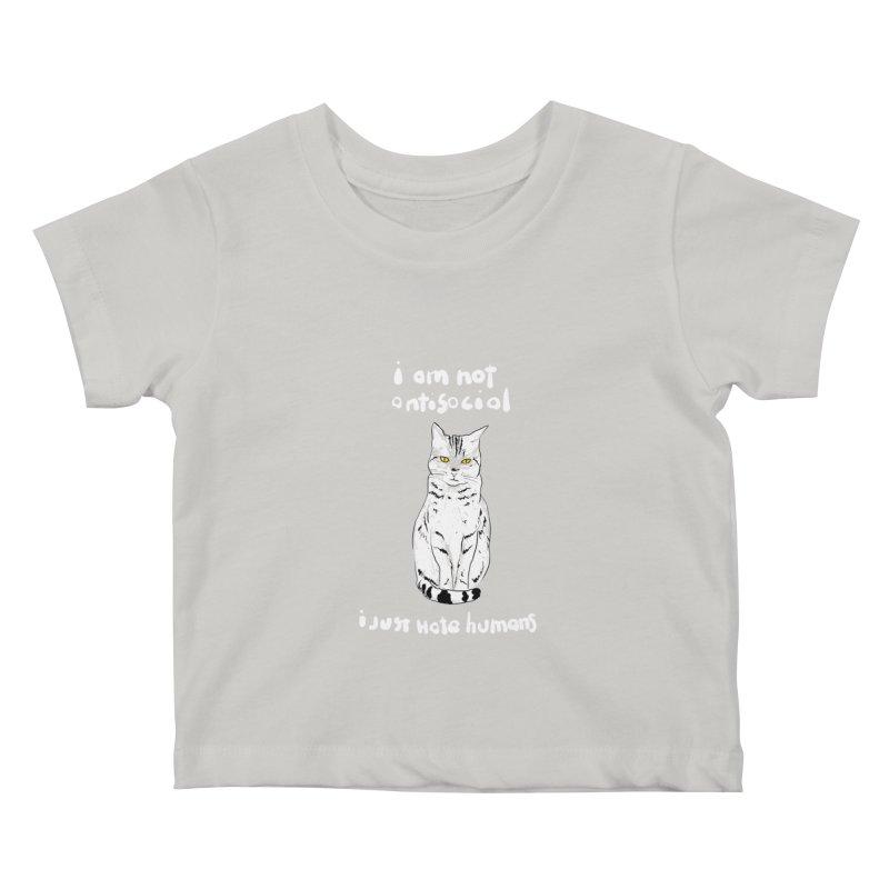 not social Kids Baby T-Shirt by kharmazero's Artist Shop