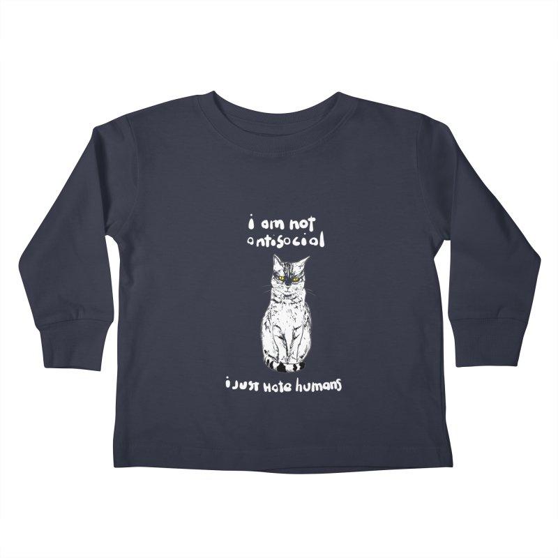 not social Kids Toddler Longsleeve T-Shirt by kharmazero's Artist Shop