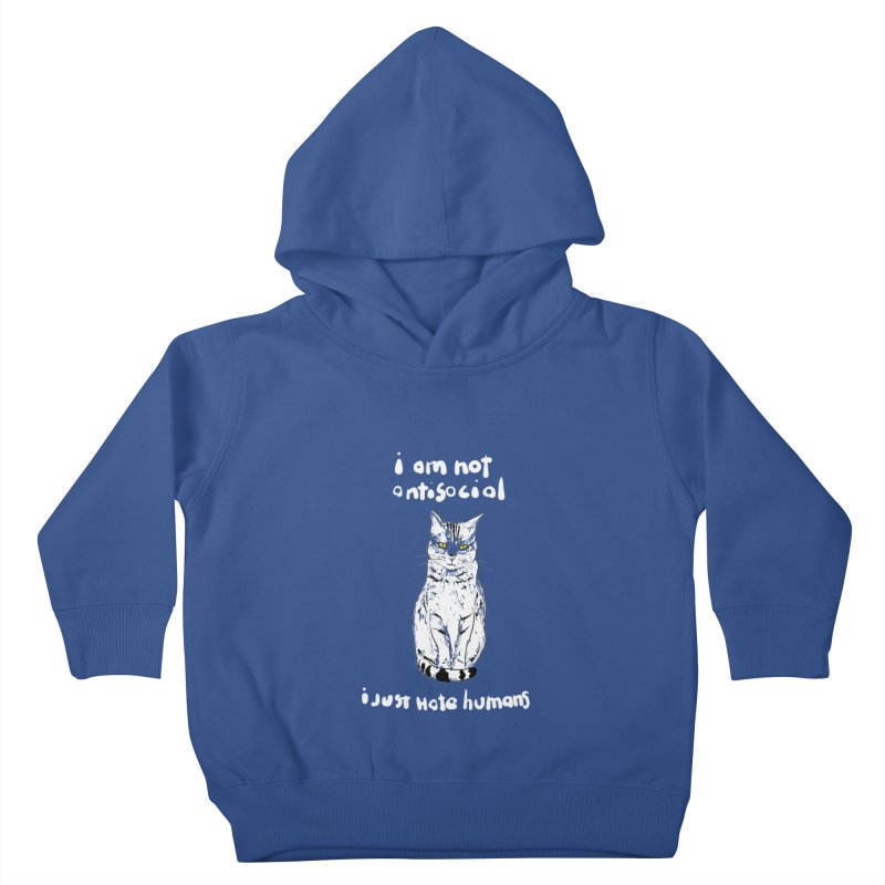 not social Kids Toddler Pullover Hoody by kharmazero's Artist Shop