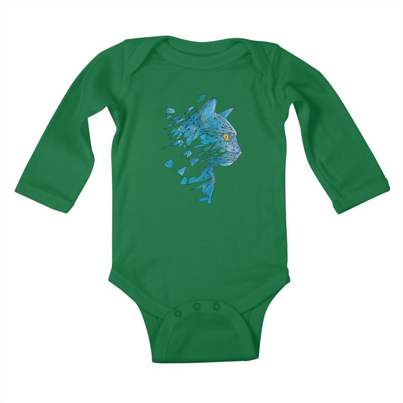 polycat Kids Baby Longsleeve Bodysuit by kharmazero's Artist Shop