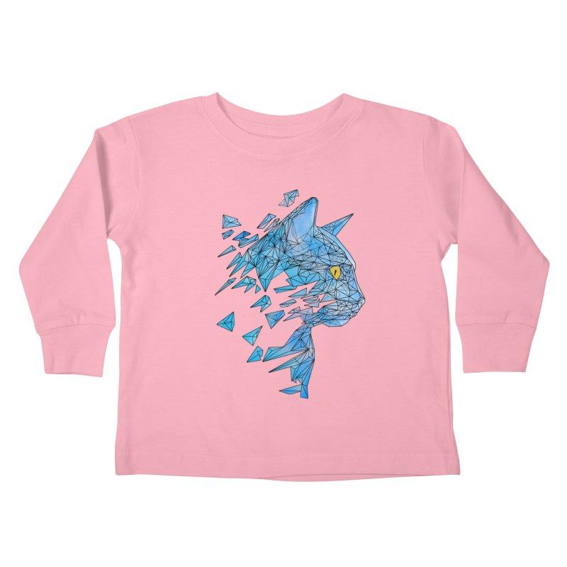 polycat Kids Toddler Longsleeve T-Shirt by kharmazero's Artist Shop