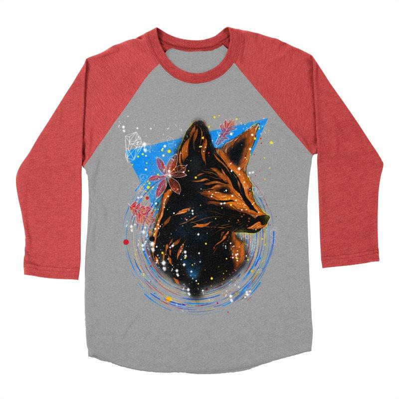 magical fox Women's Baseball Triblend T-Shirt by kharmazero's Artist Shop
