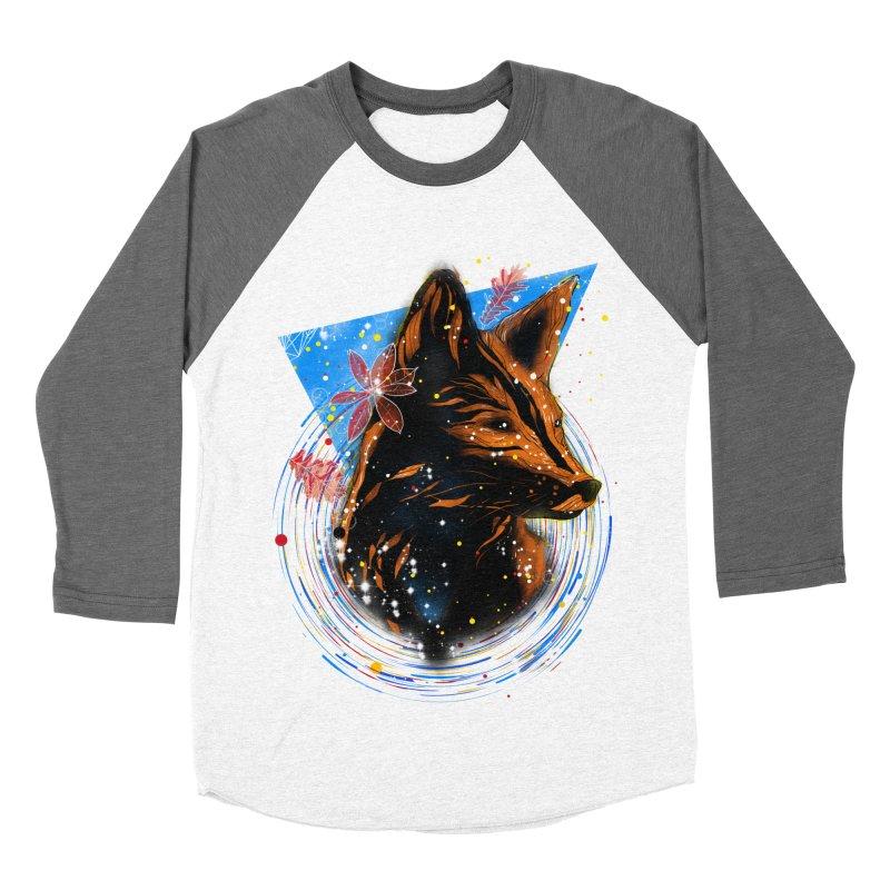 magical fox Men's Baseball Triblend T-Shirt by kharmazero's Artist Shop