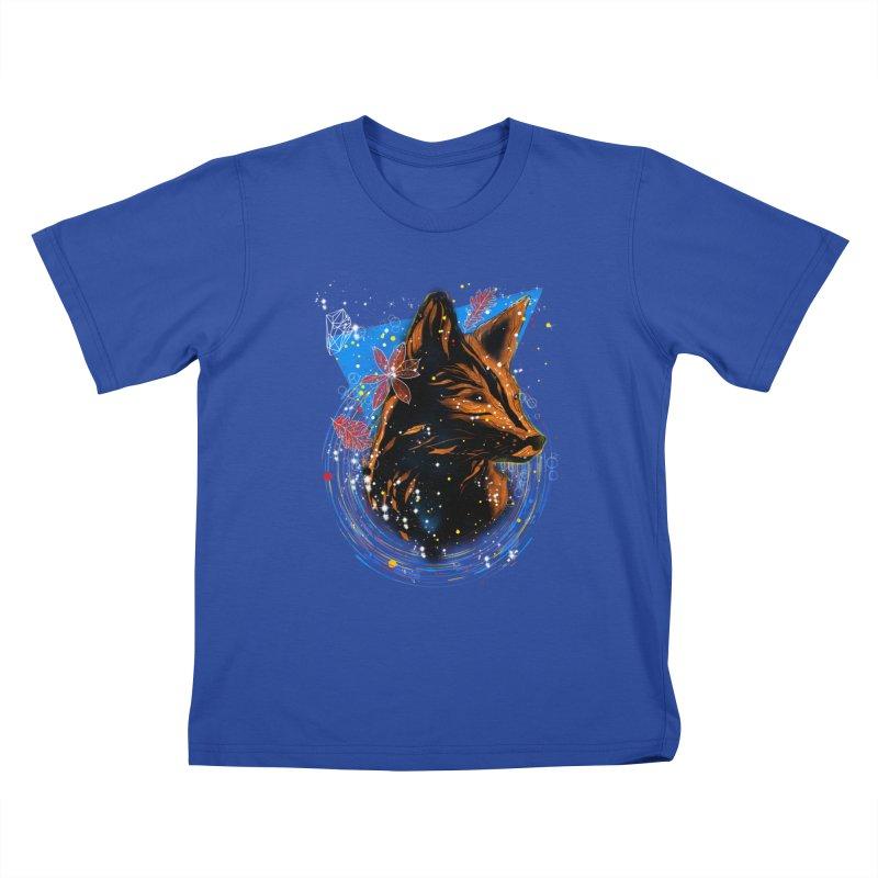 magical fox Kids T-Shirt by kharmazero's Artist Shop