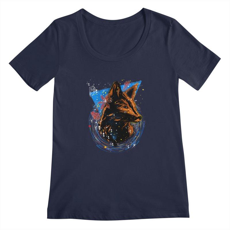 magical fox Women's Scoopneck by kharmazero's Artist Shop