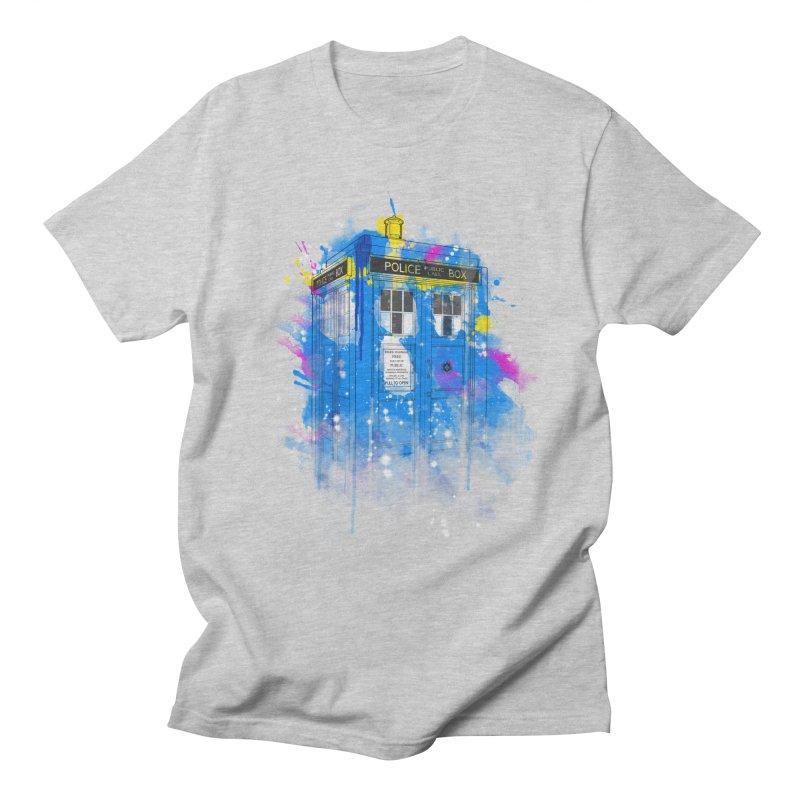 tardisplash Men's T-Shirt by kharmazero's Artist Shop