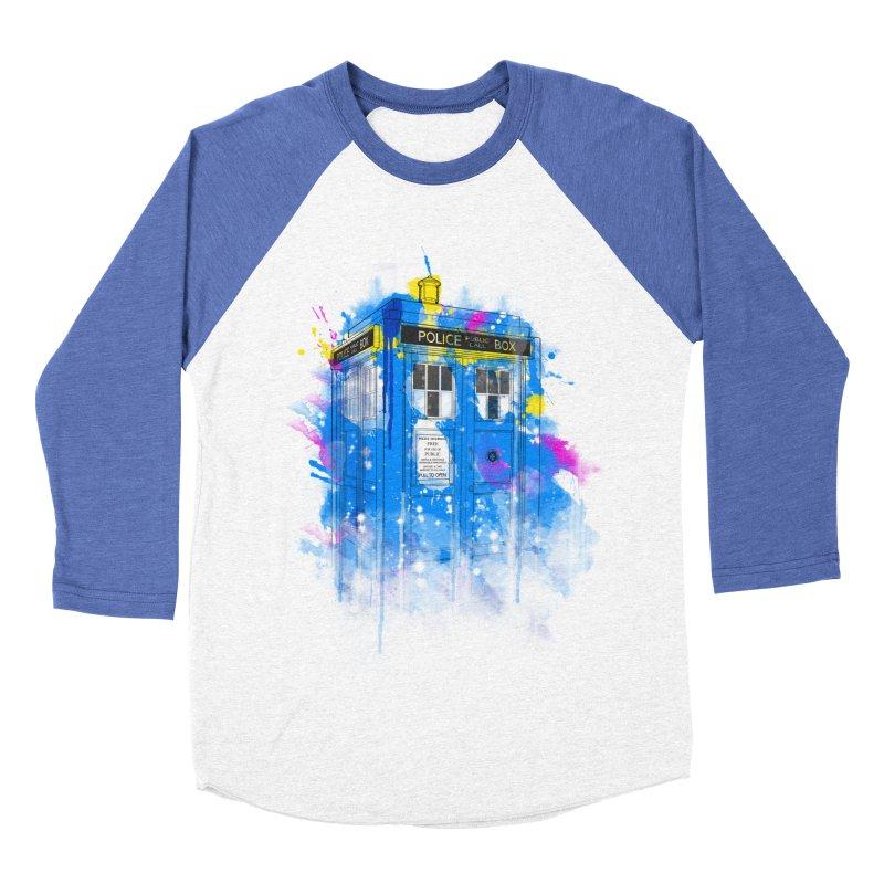 tardisplash Women's Baseball Triblend T-Shirt by kharmazero's Artist Shop