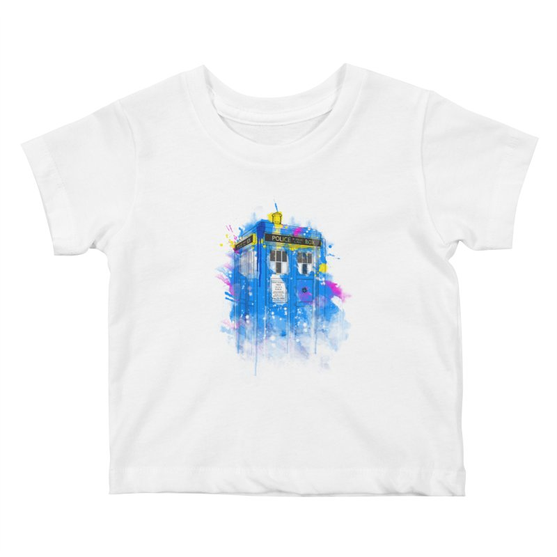 tardisplash Kids Baby T-Shirt by kharmazero's Artist Shop