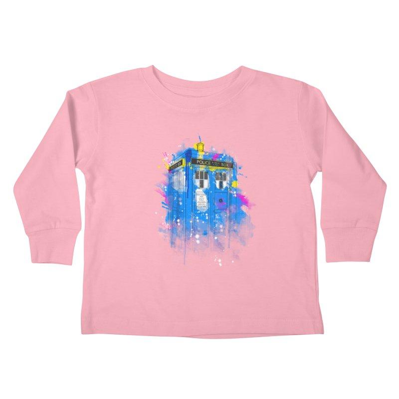 tardisplash Kids Toddler Longsleeve T-Shirt by kharmazero's Artist Shop