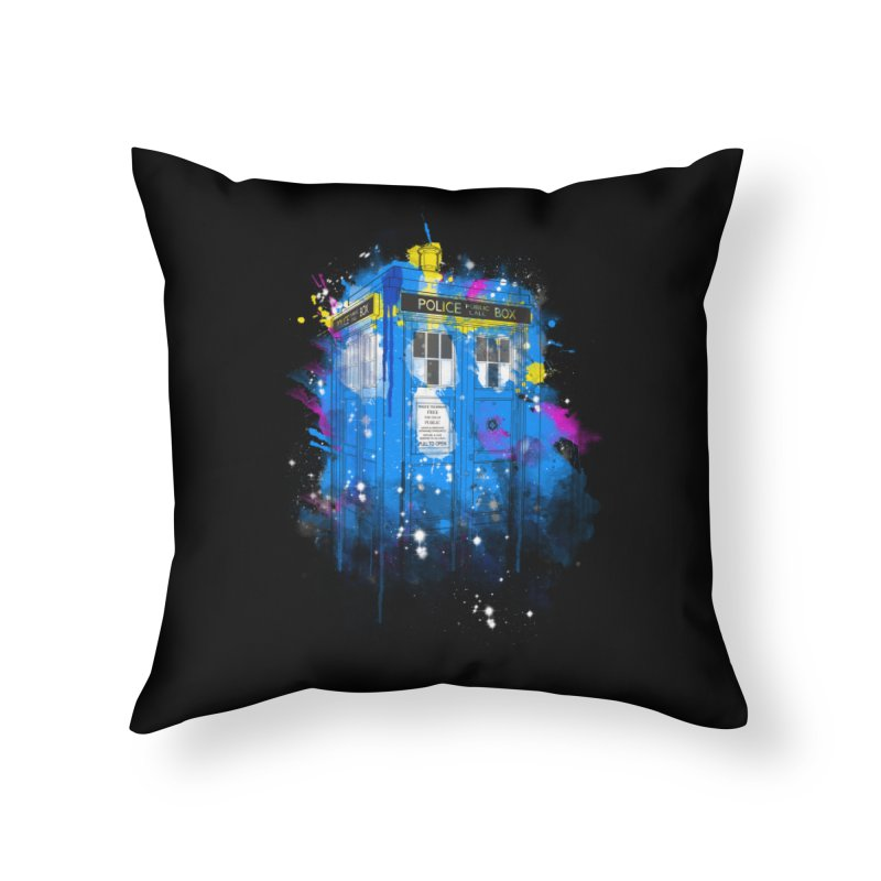 tardisplash Home Throw Pillow by kharmazero's Artist Shop
