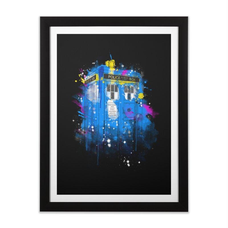 tardisplash Home Framed Fine Art Print by kharmazero's Artist Shop