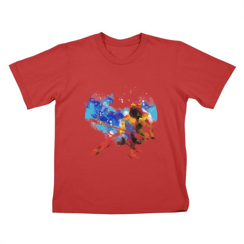 red princess Kids T-Shirt by kharmazero's Artist Shop