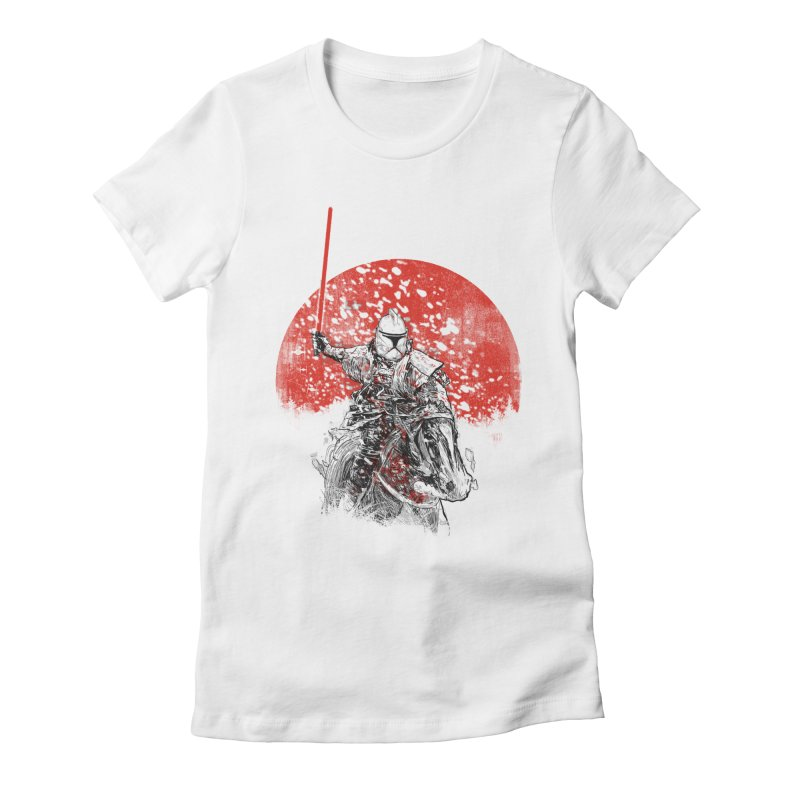 samurai trooper Women's Fitted T-Shirt by kharmazero's Artist Shop