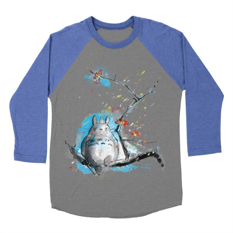 forest spirit a la hokusai Women's Baseball Triblend T-Shirt by kharmazero's Artist Shop