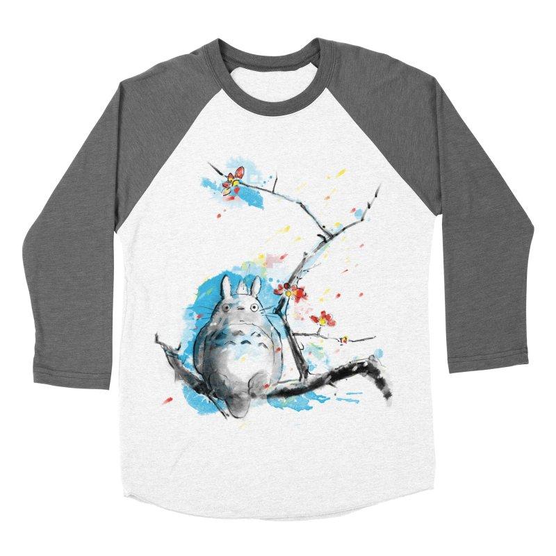forest spirit a la hokusai Men's Baseball Triblend T-Shirt by kharmazero's Artist Shop