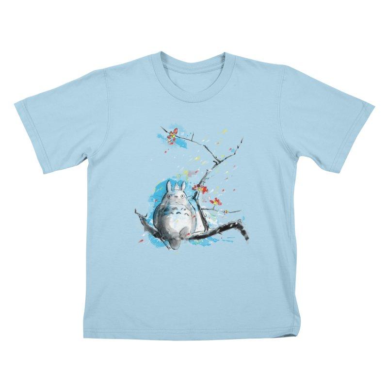 forest spirit a la hokusai Kids T-Shirt by kharmazero's Artist Shop