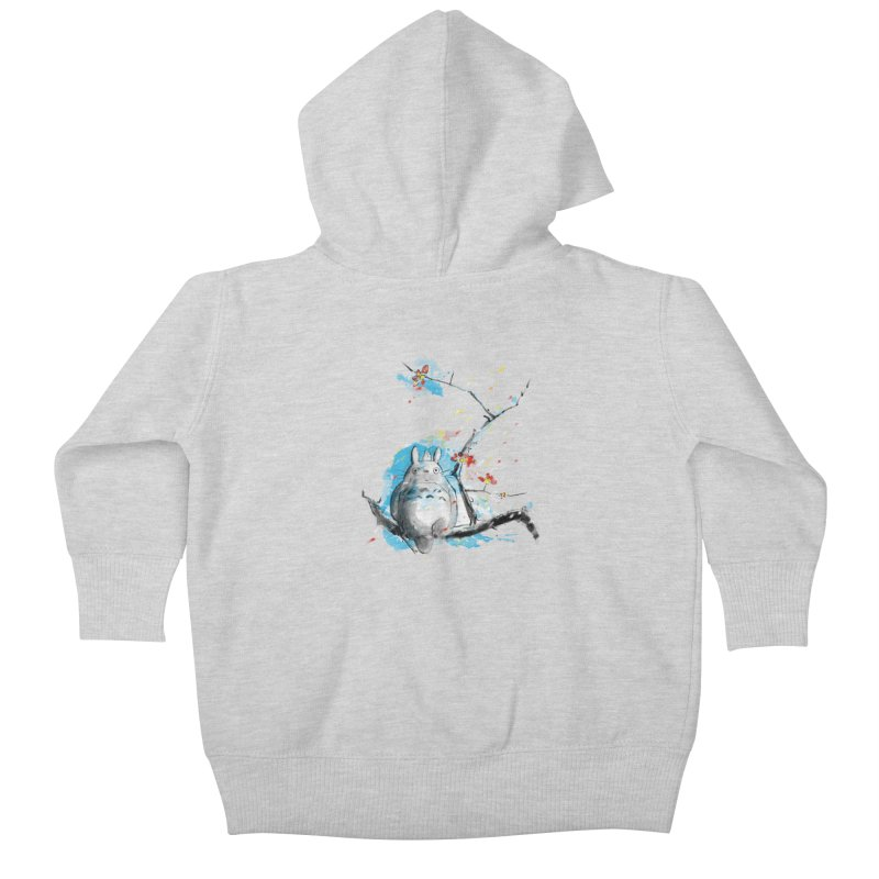 forest spirit a la hokusai Kids Baby Zip-Up Hoody by kharmazero's Artist Shop