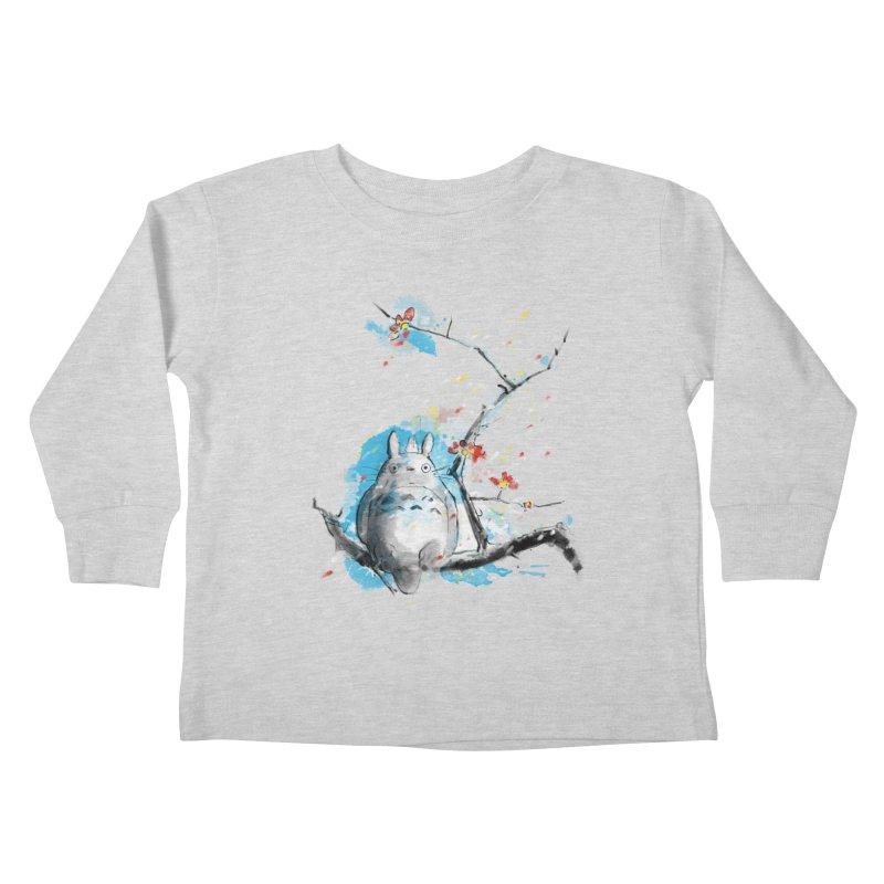 forest spirit a la hokusai Kids Toddler Longsleeve T-Shirt by kharmazero's Artist Shop