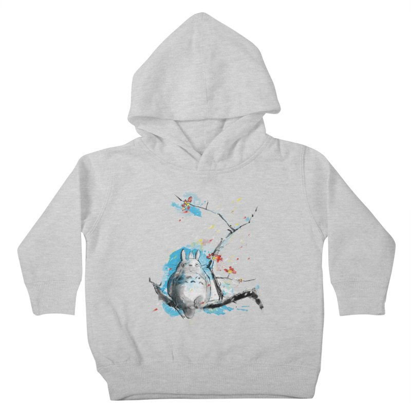 forest spirit a la hokusai Kids Toddler Pullover Hoody by kharmazero's Artist Shop
