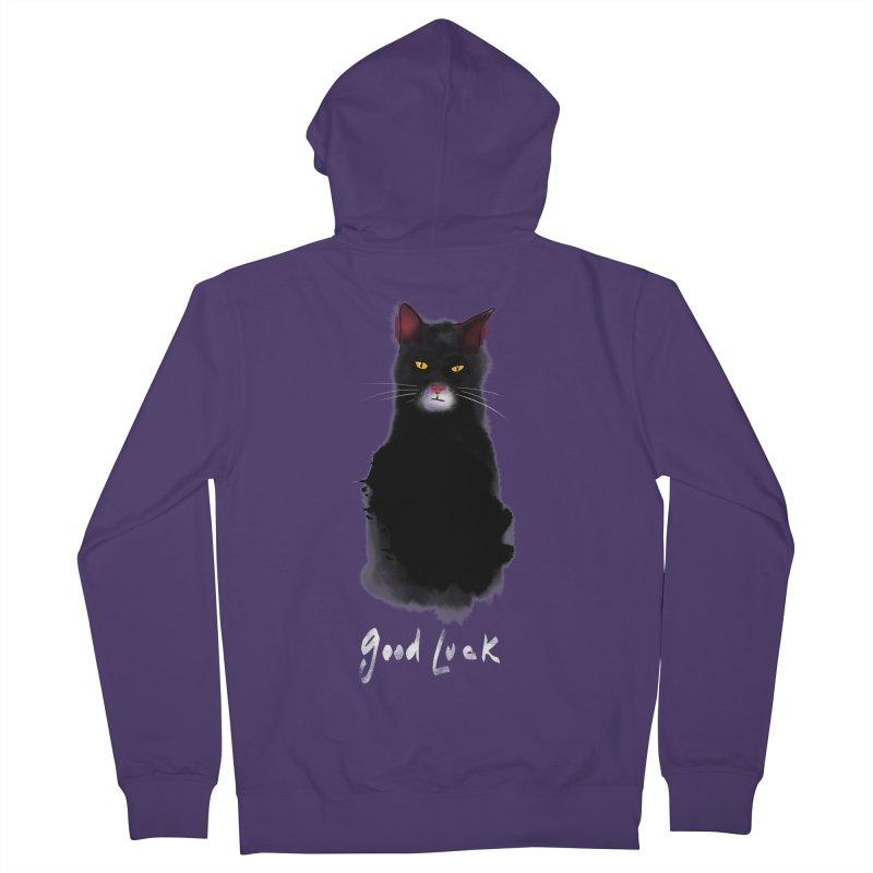 lucky cat Women's Zip-Up Hoody by kharmazero's Artist Shop