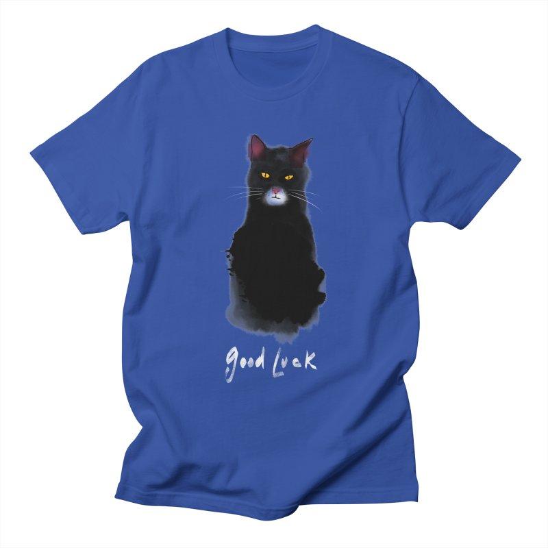 lucky cat Men's T-Shirt by kharmazero's Artist Shop