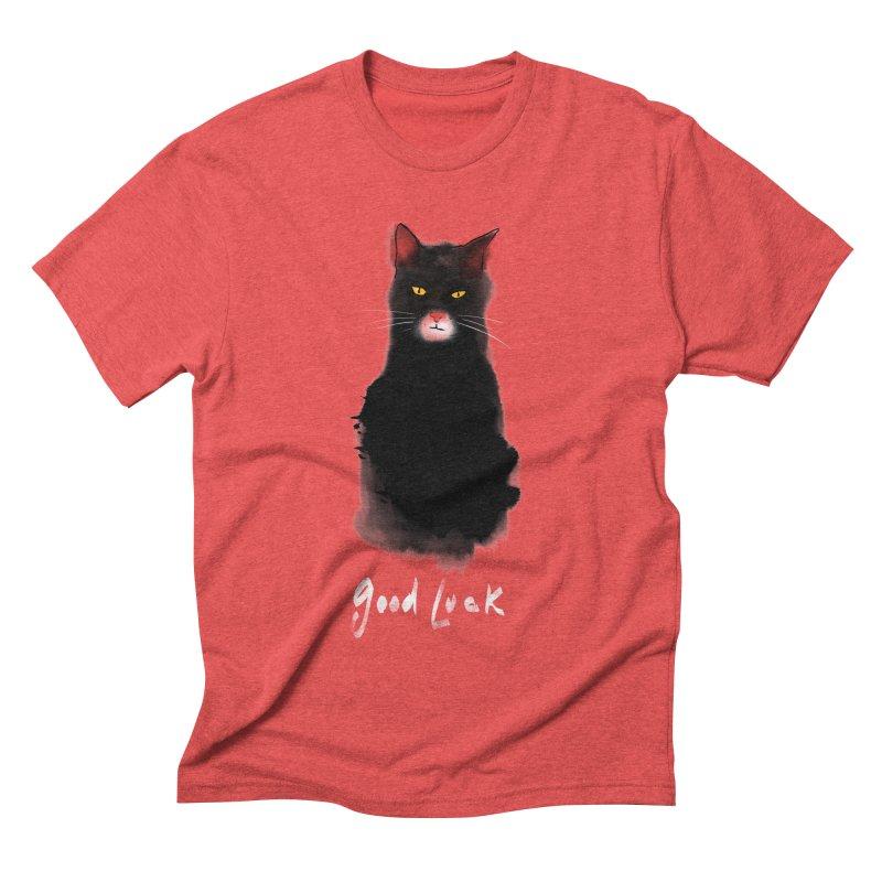 lucky cat Men's Triblend T-Shirt by kharmazero's Artist Shop