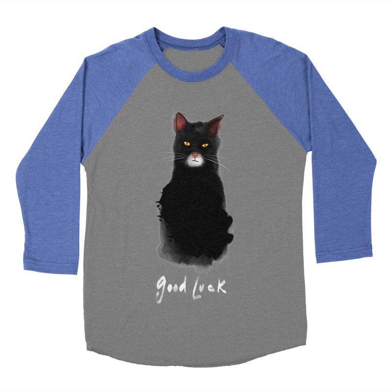 lucky cat Women's Baseball Triblend T-Shirt by kharmazero's Artist Shop
