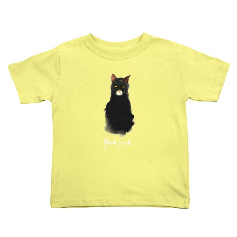 lucky cat Kids Toddler T-Shirt by kharmazero's Artist Shop