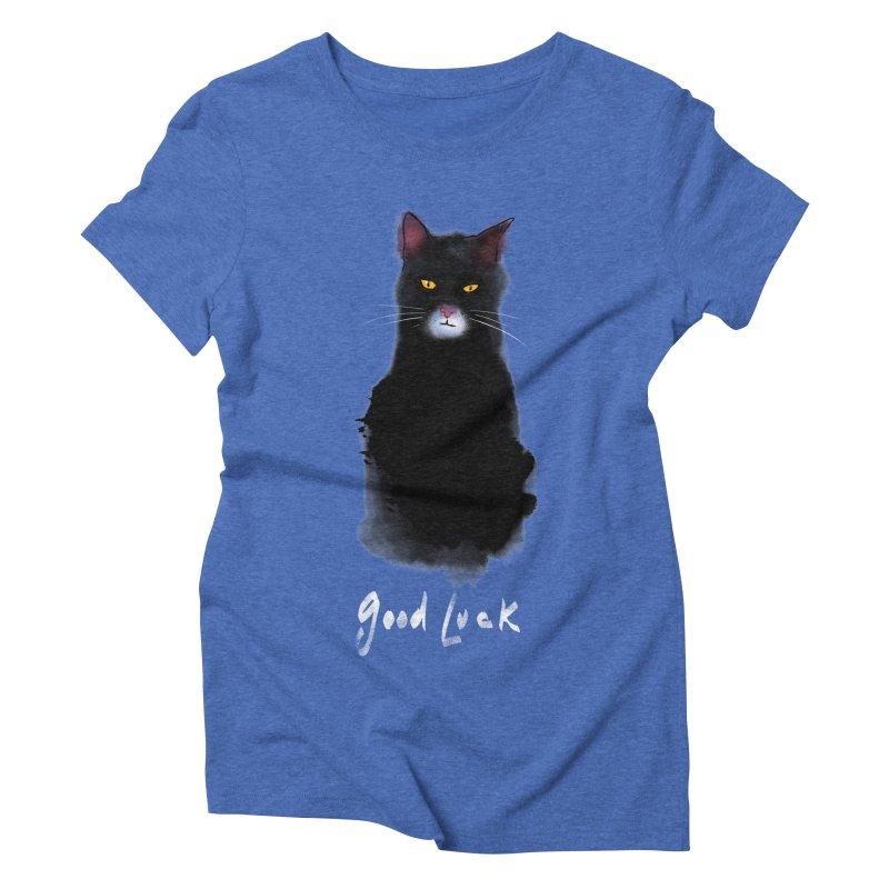 lucky cat Women's Triblend T-Shirt by kharmazero's Artist Shop