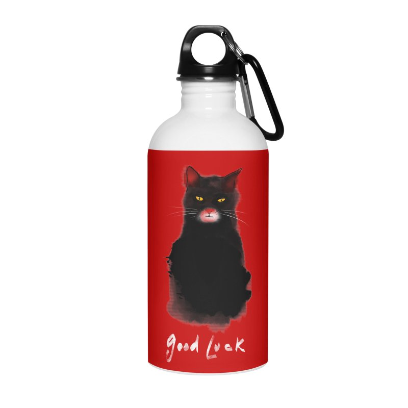 lucky cat Accessories Water Bottle by kharmazero's Artist Shop