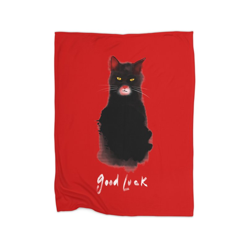 lucky cat Home Blanket by kharmazero's Artist Shop