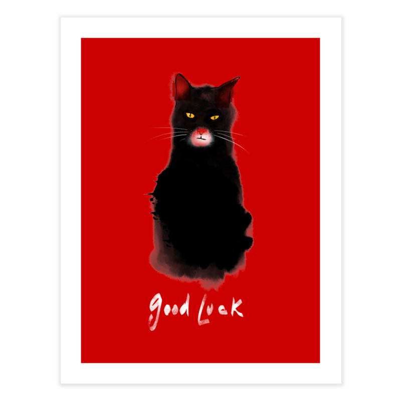 lucky cat Home Fine Art Print by kharmazero's Artist Shop