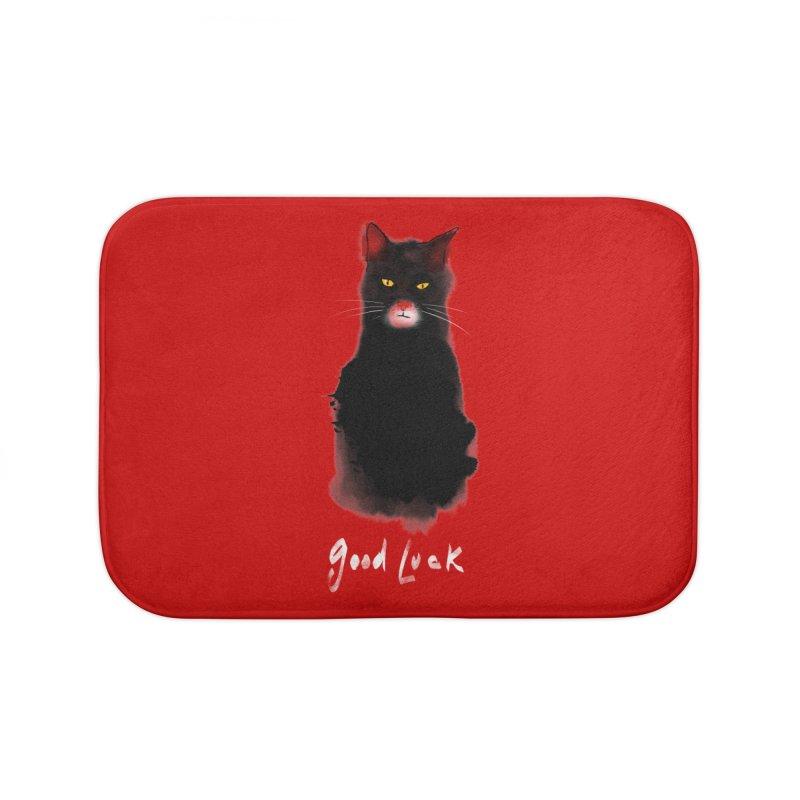 lucky cat Home Bath Mat by kharmazero's Artist Shop