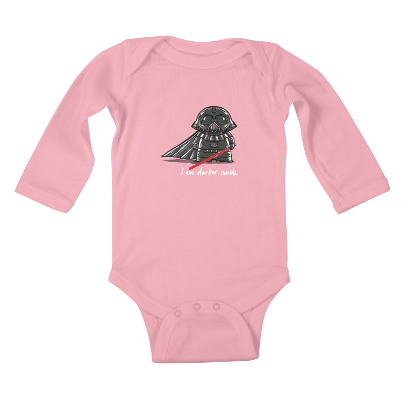 darker inside Kids Baby Longsleeve Bodysuit by kharmazero's Artist Shop