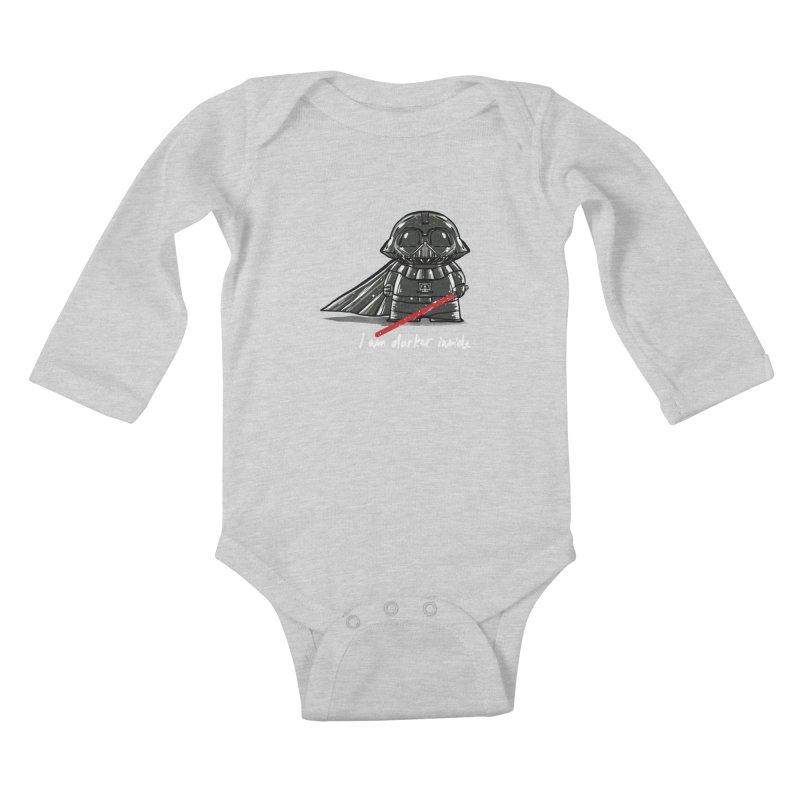 darker inside Kids Baby Longsleeve Bodysuit by kharmazero's Artist Shop