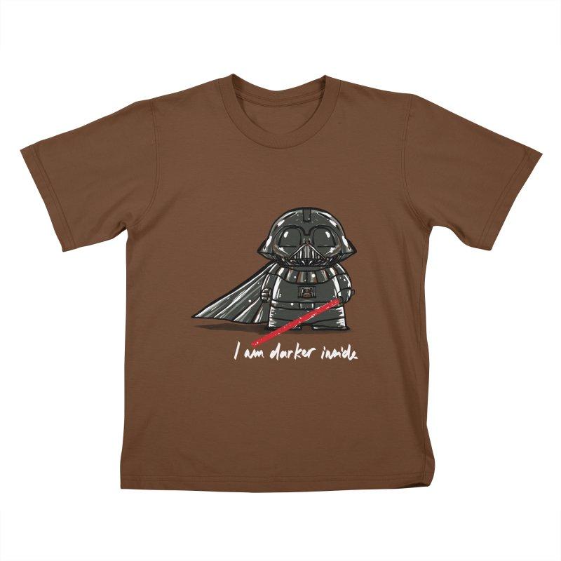 darker inside Kids T-Shirt by kharmazero's Artist Shop