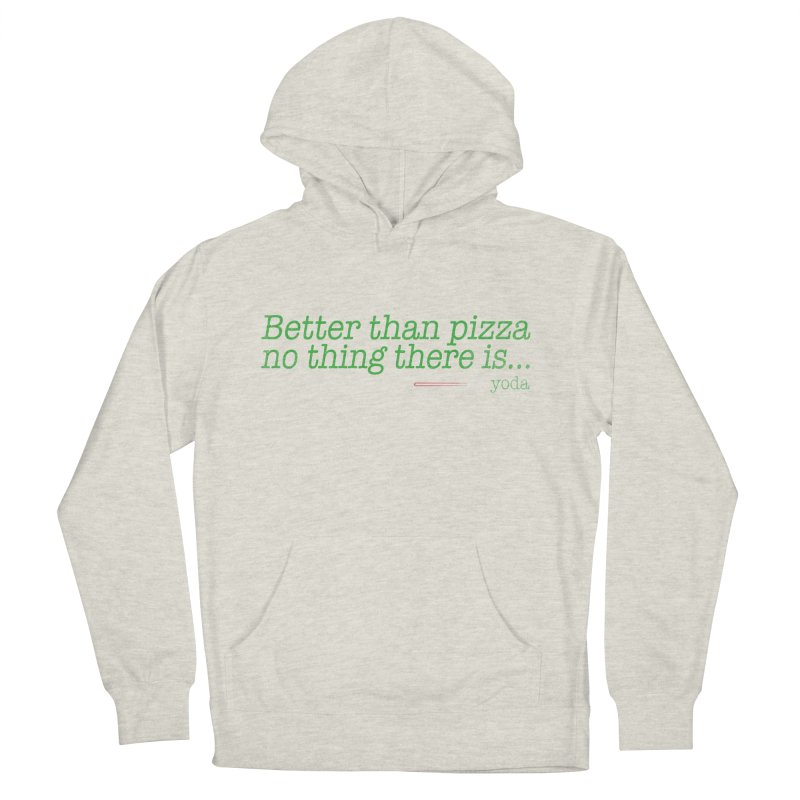eat pizza you must Women's Pullover Hoody by kharmazero's Artist Shop
